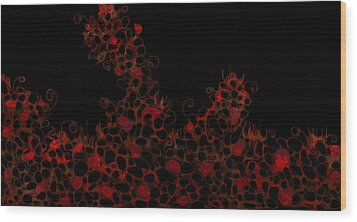 Wood Print featuring the digital art Abstract3 by Shabnam Nassir