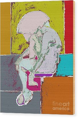 Abstraction 113 Wood Print by Patrick J Murphy