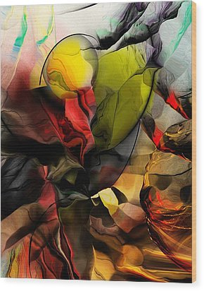 Abstraction 122614 Wood Print by David Lane