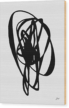 Astratto - Abstract 19 Wood Print by Ze  Di