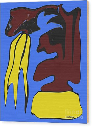 Abstraction 229 Wood Print by Patrick J Murphy