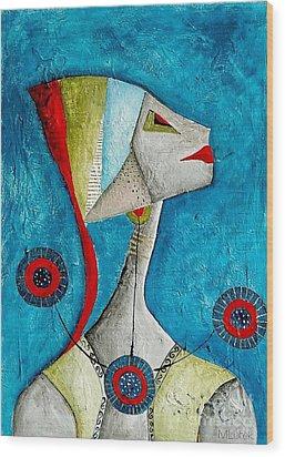 Abstraction 698 -marucii Wood Print by Marek Lutek