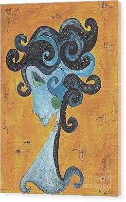 Abstraction 699 -marucii Wood Print by Marek Lutek