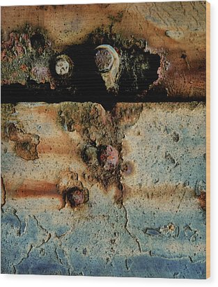 Abstraction Gap Abstraction Wood Print by Odd Jeppesen