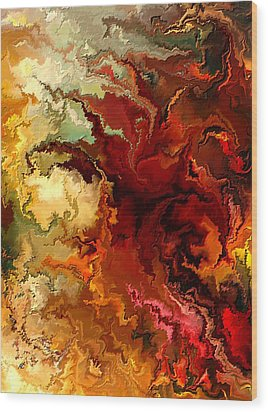 Abstraction Surrealist By Rafi Talby Wood Print by Rafi Talby