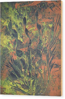 Wood Print featuring the painting Abstrakte Farben by Nico Bielow