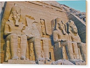 Wood Print featuring the photograph Abu Simbel by Cassandra Buckley