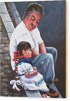 Abuelito Wood Print