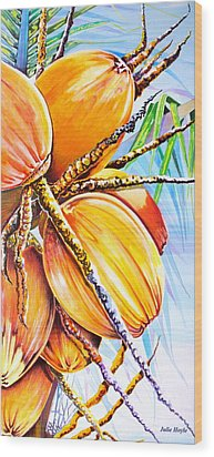 Wood Print featuring the painting Abundance by Julie  Hoyle