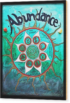 Abundance Money Magnet - Healing Art Wood Print