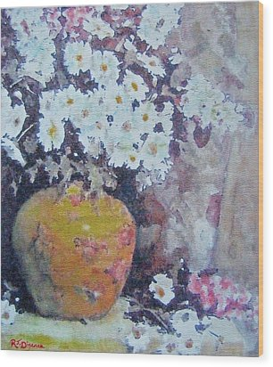Abundance Of Daisies Wood Print