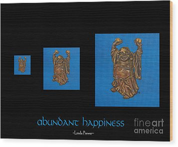Wood Print featuring the painting Abundant Happiness by Linda Prewer