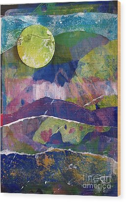 Abundant Moon Wood Print by Corina  Stupu Thomas