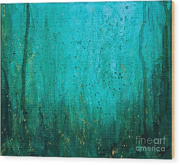 Wood Print featuring the painting Abyss by Melissa Sherbon