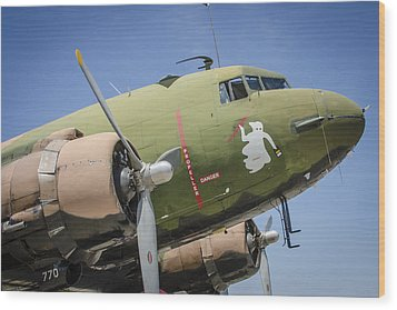 Wood Print featuring the photograph Ac-47 Spooky by Bradley Clay