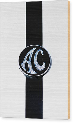 Ac Cobra Badge Wood Print by Phil 'motography' Clark