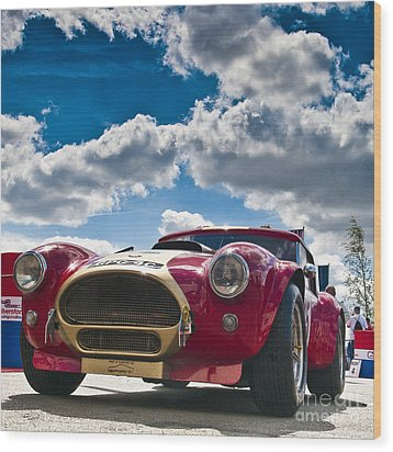 Ac Cobra Wood Print by Mike Hayward