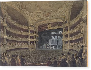 Academie Imperiale De Musique Paris Wood Print by Louis Jules Arnout