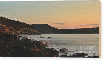 Acadia Morning Wood Print