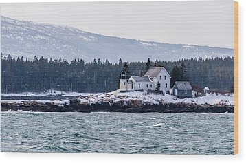 Acadia National Park Schoodic Lighthouse Wood Print