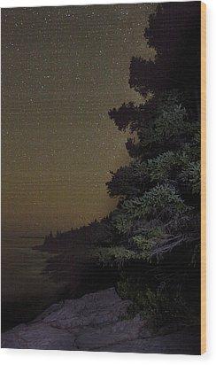 Acadia Stars 01 Wood Print by Brent L Ander
