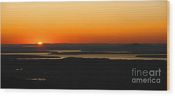 Acadia Sunset Wood Print by Olivier Le Queinec