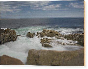 Acadia Surf II Wood Print by Bob Retnauer