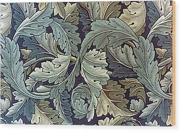 Acanthus Leaf Design Wood Print by William Morris