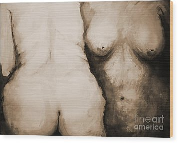Acceptance Wood Print by Rory Sagner