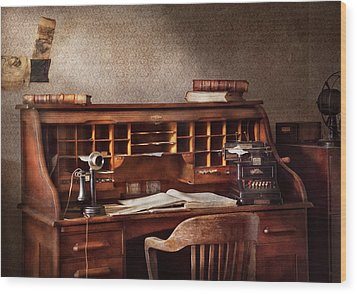 Accountant - Accounting Firm Wood Print by Mike Savad