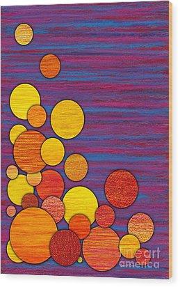 Accumulation Wood Print by David K Small