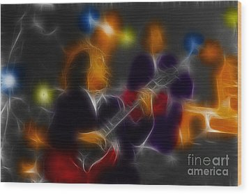 Acdc-angus-95-e5-fractal Wood Print by Gary Gingrich Galleries