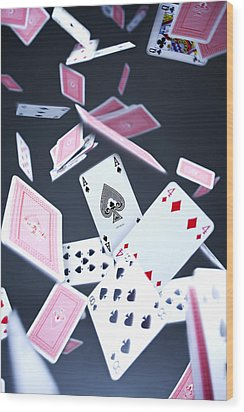 Ace Of Spades Wood Print by Samuel Whitton