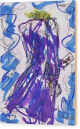 Aceo Joker V Wood Print by Rachel Scott