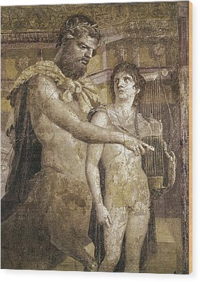 Achilles And Chiron. 45 - 79. Detail Wood Print by Everett