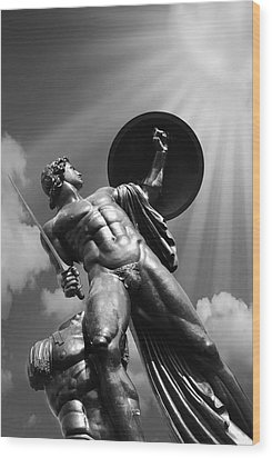 Achilles Wood Print by Mark Rogan