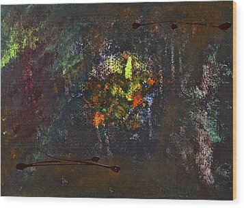 Wood Print featuring the painting Acid Burn by Tracey Myers