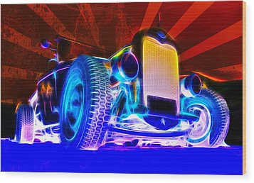Acid Ford Hot Rod Wood Print by Phil 'motography' Clark