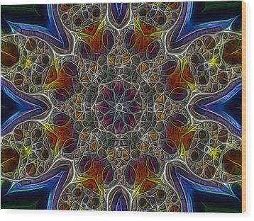 Acid Rock 1 Wood Print by Larry Capra