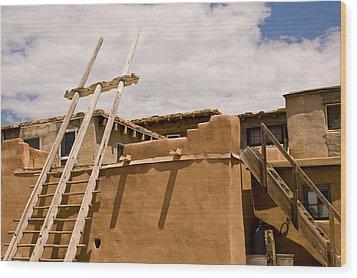 Acoma Building Wood Print