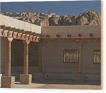 Acoma Old And New Wood Print by Jennifer Nelson