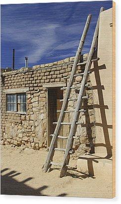 Acoma Pueblo Adobe Homes 4 Wood Print by Mike McGlothlen
