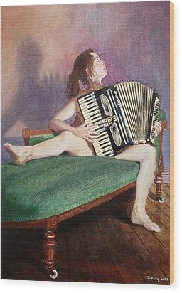 Acordeonista Wood Print by Jo King