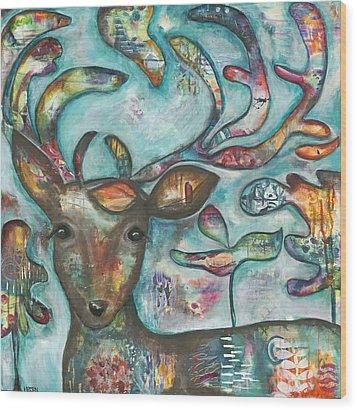 Acorn Wood Print by Kirsten Reed