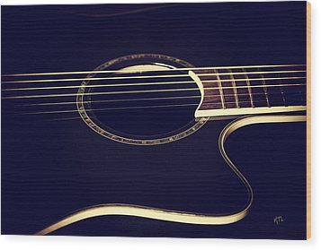 Acoustically Sound Wood Print by Karol Livote