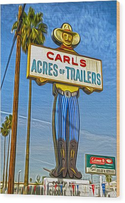 Acres Of Trailers 2 Wood Print by Gregory Dyer