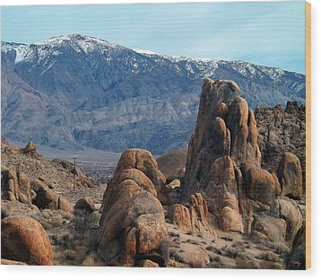 Across Owens Valley - U.s. Highway 395 Wood Print by Glenn McCarthy Art and Photography