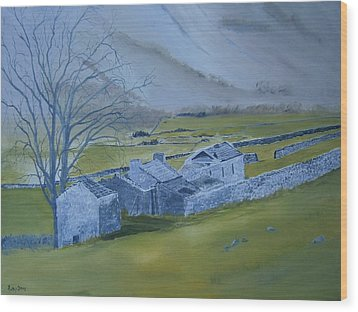 Across The Dales Wood Print by Andy Davis