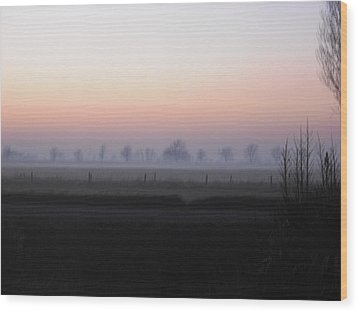 Across The Fen Wood Print