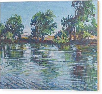 across the Joan Darrah Promenade Wood Print by Vanessa Hadady BFA MA